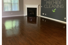 Wood floor cleaned